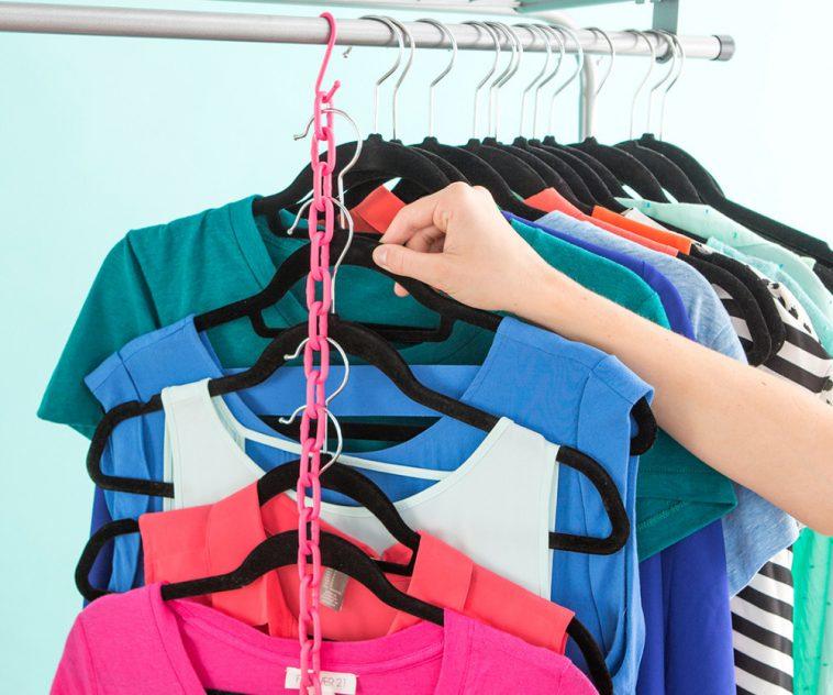 Как сэкономить место в шкафу