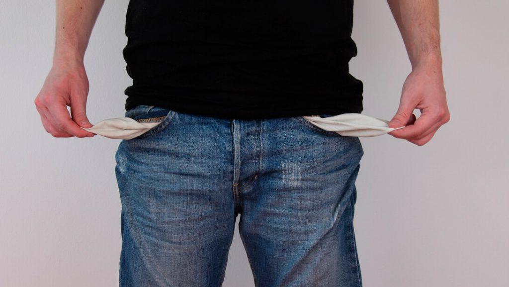 Пустые карманы. Именно таким вы становитесь для кредиторов